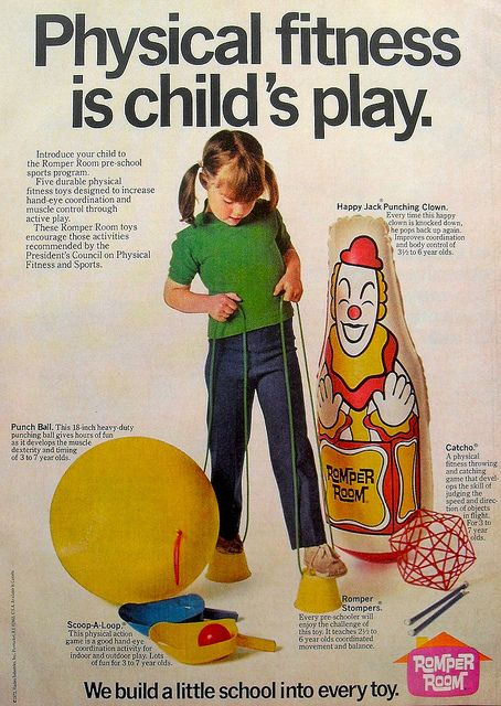 1972 Vintage Romper Room TV Show Toy Advertisement 1970s... I only remember the damn clown...