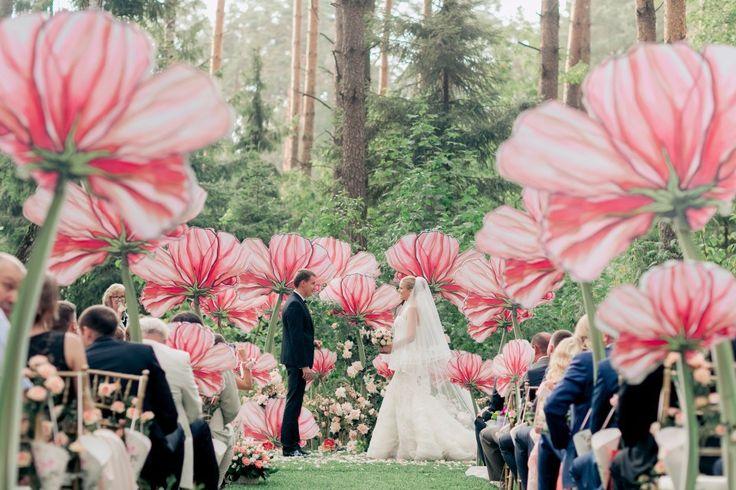 Magical!   we ❤ this!  moncheribridals.com  #weddingaisledecor #weddingbackdrop