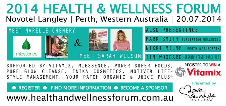 What are you doing on the 20 July 2014? If you are in #Perth you don't want to miss this #event #Miessence #NarelleChenery along with #IQuitSugar #SarahWilson will be guest speakers