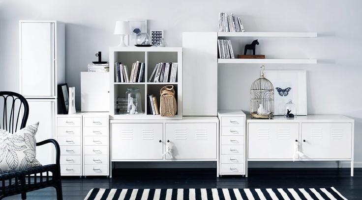 Combineren met Ikea ladekast en zwevende planken.