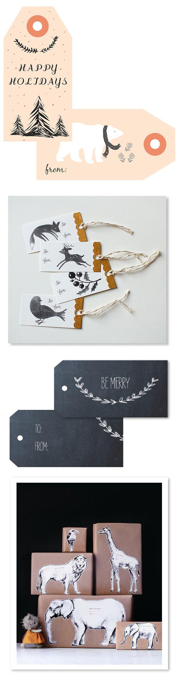etiquette paquet cadeau noel imprimable