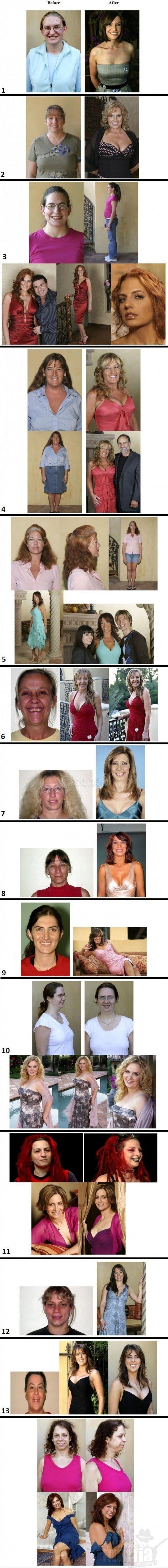"""Néhány """"csúnya"""" nő, akit felkaroltak a sminkesek és fodrászok – a végeredmény hihetetlen!"""