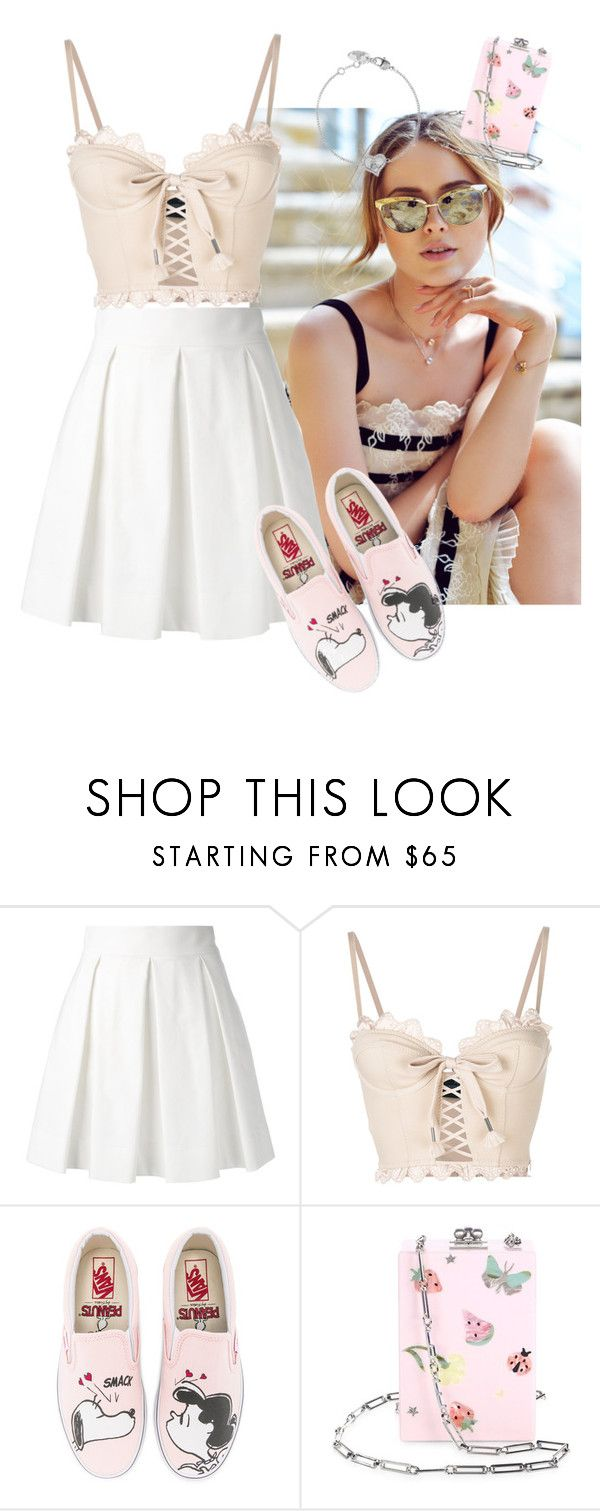 """""""One moment"""" by charlotteh2001 ❤ liked on Polyvore featuring Boutique Moschino, Puma, Vans, Edie Parker and Vivienne Westwood"""