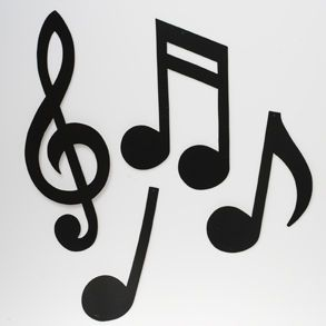 Image detail for -Shop for Musical Notes Silhouette, Rock & Roll Music, Best Sellers ...