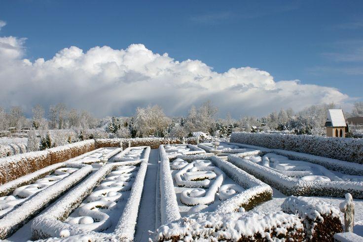 Ogród francuski zimą