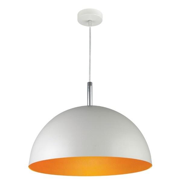 Inside 1 Light Pendant in White/Orange,Lighting,Beacon Lighting $100