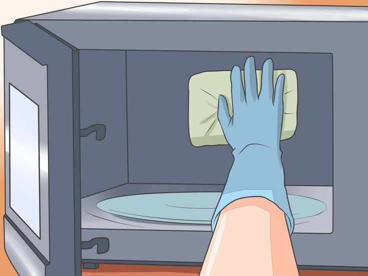 how to clear the smell in microwave
