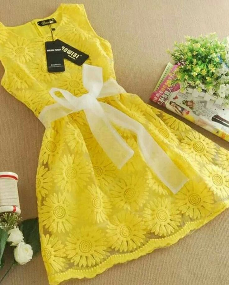Cute yellow summer dress