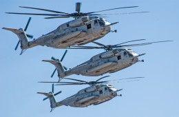 Hintergrundbilder Hubschrauber Flug Drei 3 Sikorsky, CH-53E, Sea Stallion Luftfahrt