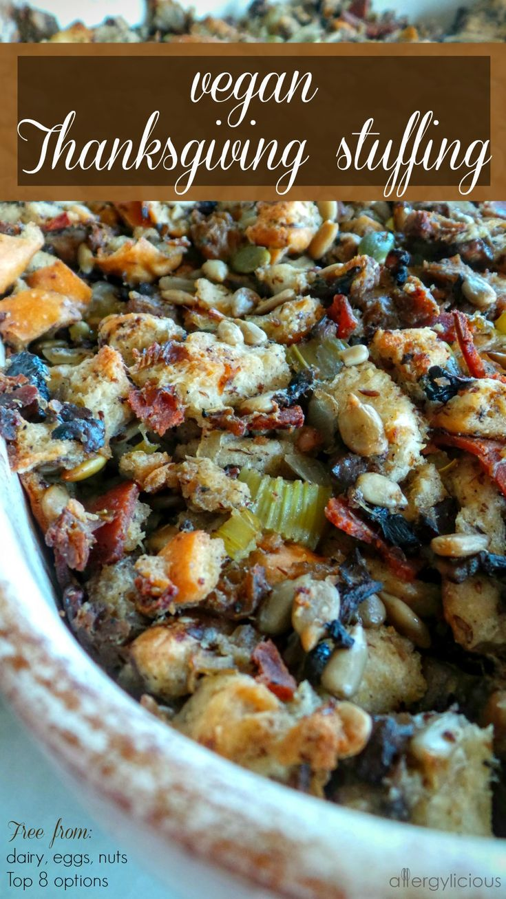 Homemade stuffing is my favorite part of Thanksgiving and once you make this vegan & allergy-free version, it'll be your favorite too.