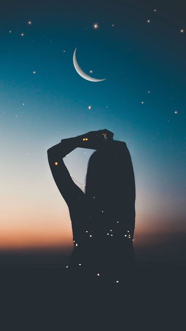 Pin By Areejs Ssyr On قمر ونجوم Cute Wallpaper For Phone Phone Backgrounds Tumblr Silhouette Photography