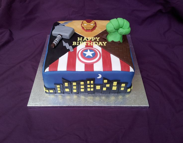 The Avengers cake. That's a bad ass cake.