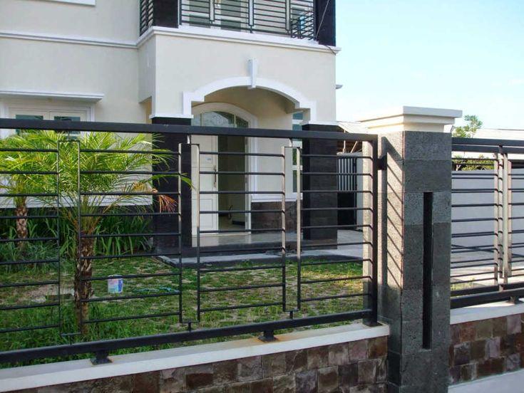 Model Pagar Rumah Minimalis Dengan Warna Cat Terbaru House Fence Design Minimalist House Design Fence Design