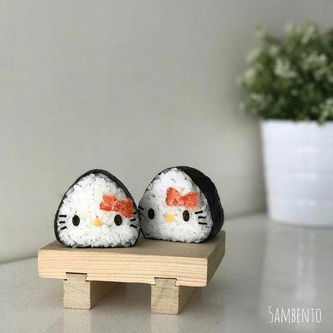Hello Kitty onigiri by Tian Min (@5ambento)