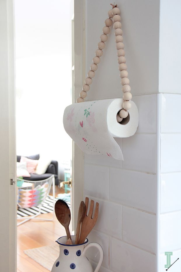 DIY: paper towel holder