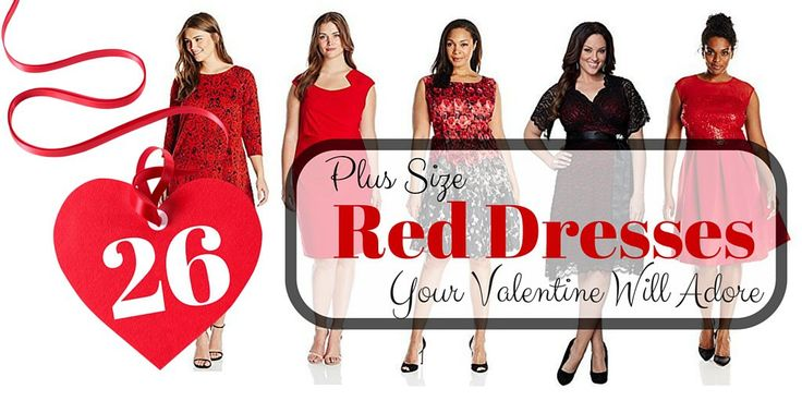 26 Plus Size Red Dresses Your Valentine Will Adore