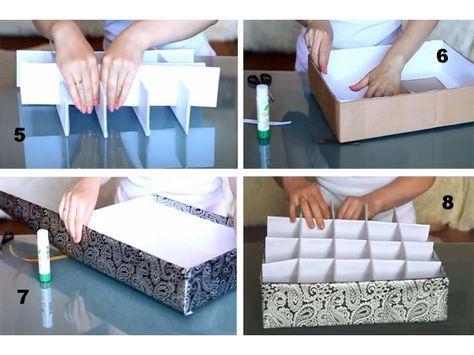 Как сделать коробки для хранения вещей своими руками?