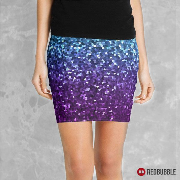 """SOLD Mini Skirts """"Mosaic Sparkley Texture G198"""" https://www.redbubble.com/people/medusa81/works/11669115-mosaic-sparkley-texture-g198?asc=u #redbubble #Mini #Skirt #miniskirts #clothing #fashion #Mosaic #Sparkley #Texture #glitter #purple #turquoise #girls #womens #abstract #style #trend"""