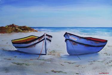 """Saatchi Online Artist Louis Pretorius; Painting, """"One boat belongs to Emmie"""" #art (SOLD)"""