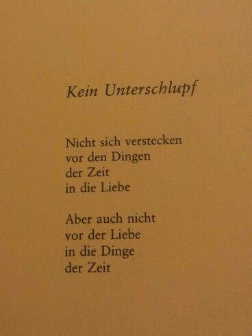 Kein Unterschlupf - Erich Fried