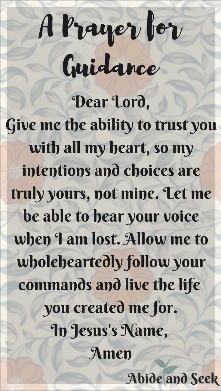 A prayer for guidance | Me & My Babies!!! | Prayer