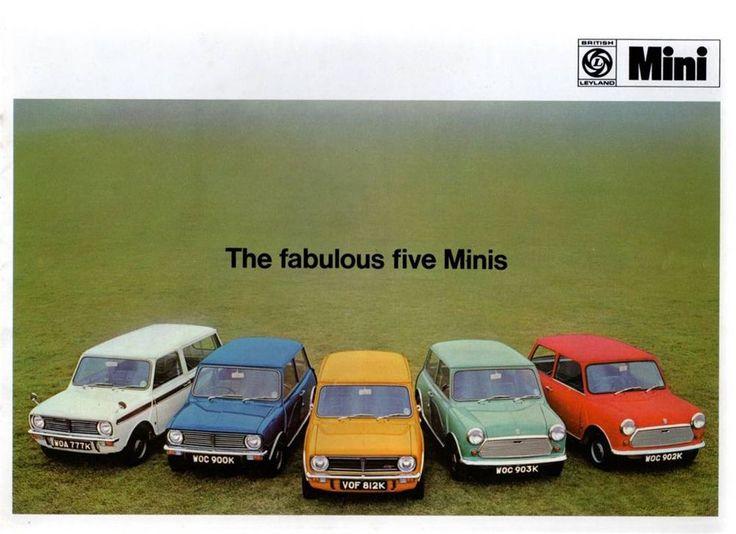 Mini - British Leyland The Fabulous Five March 1973 UK Brochure