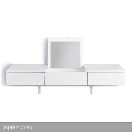 Eine Moderne Und Funktionale Optik Kennzeichnet Den Schminktisch Von  Impressionen. Mit Zwei Schubladen Und Einem