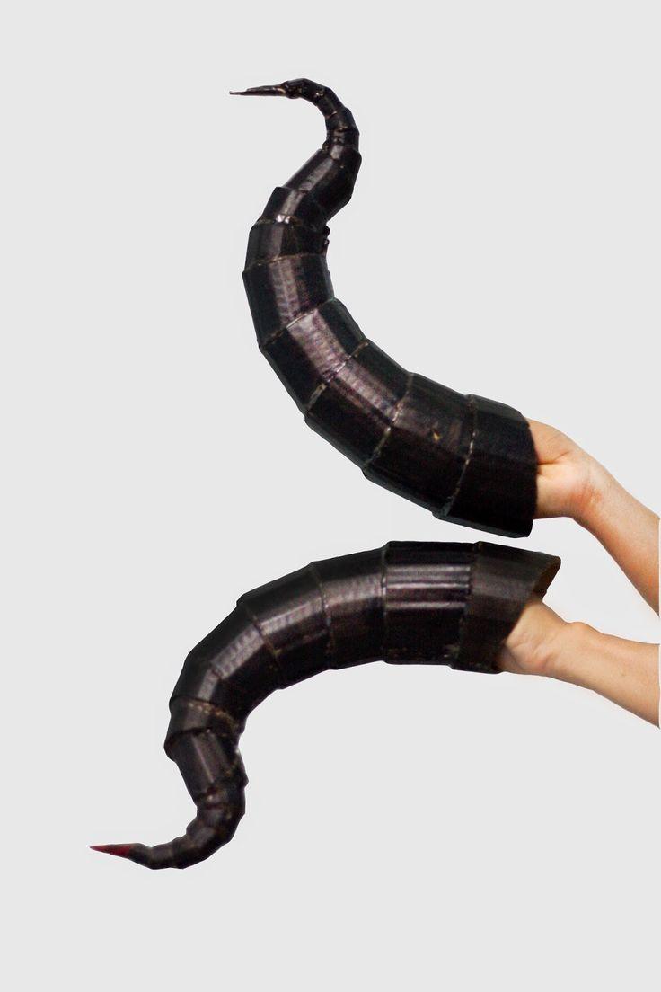 Costume horns DIY Maleficent - Cuernos para disfraz de Maléfica