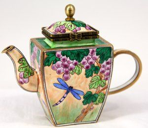Buy Kelvin Chen Enameled Miniature Tea Pot   Dragonfly And Bees In .