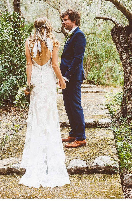 Die besten 25 boho Hochzeitskleid Ideen auf Pinterest