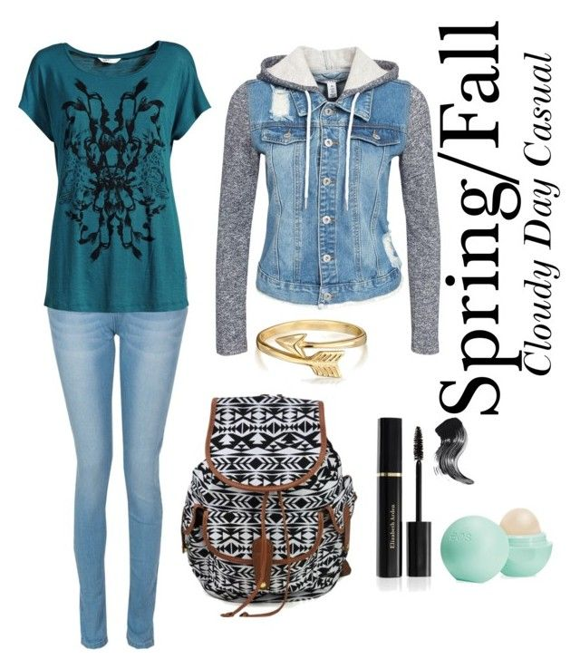 """""""Spring or Fall Cloudy Day Outfit"""" by onalease on Polyvore featuring NLY Trend, Elizabeth Arden, Bling Jewelry and Eos"""
