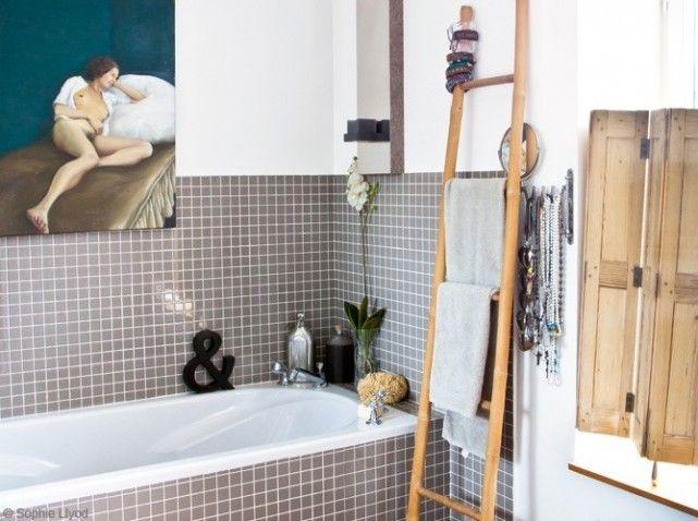 Salle de bains porte serviette