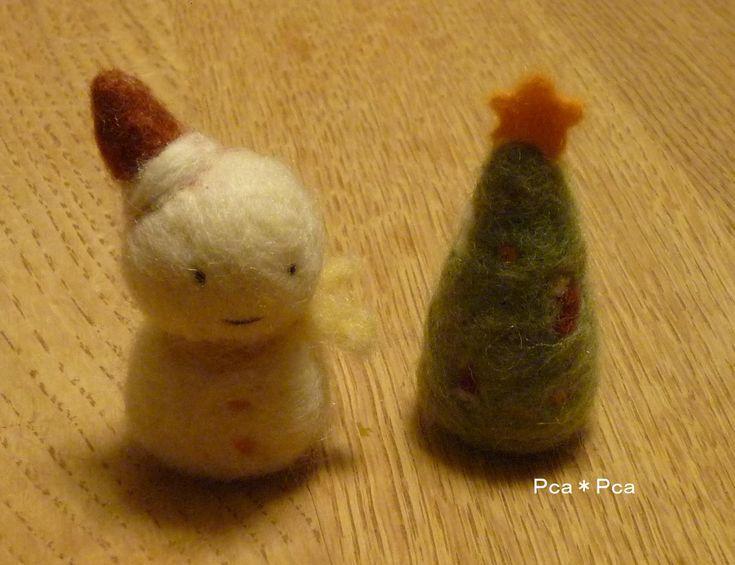 羊毛フェルト クリスマス : Pca*Pca
