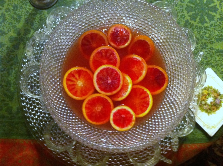 Blood Orange + White Rum Punch | yum yums | Pinterest