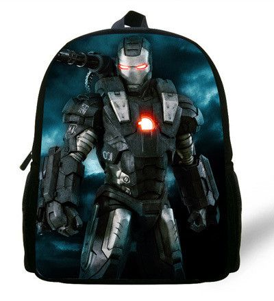 12-inch Cool Mochila Iron Man Superman Kids School Bag For Boys Aged 1-6 Chidren Backpack Iron Man Backpack Casual Daypack