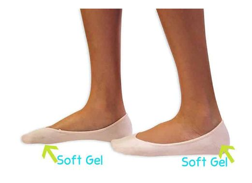 #KidSole #Ballet & #Tap #Dance #Gel #Socks For Kids with heel sensitivity from Severs Disease, Plantar Fasciitis or any other undiagnosed heel pain issues. Made from strong & soft cushioned material for maximum comfort and lasting quality. US Kid's Sizes 2-7