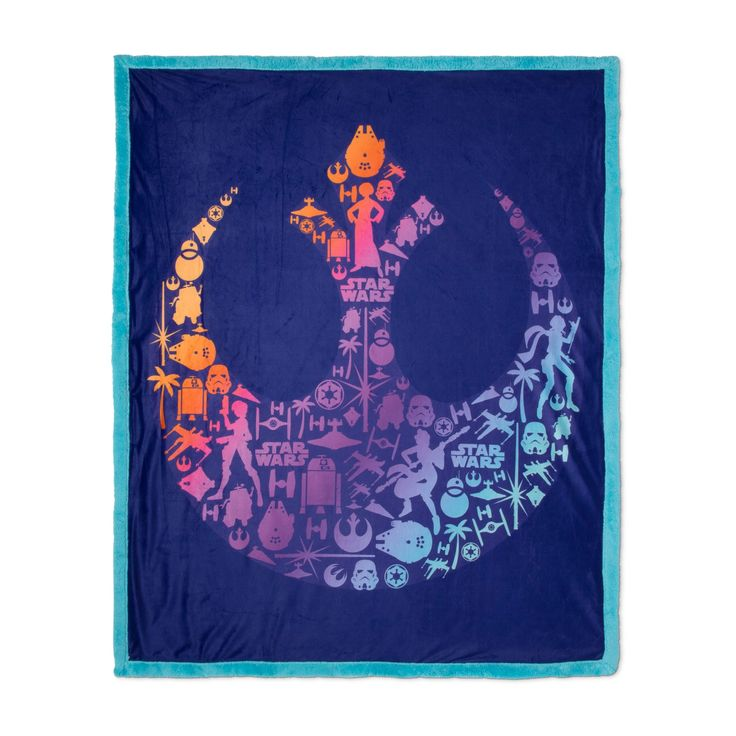 "Star Wars Purple Throw Blanket (46""x60"")"