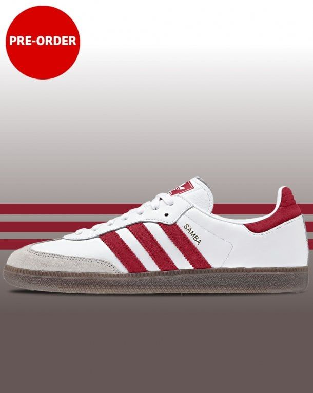 premium selection d25e7 ad5ce Adidas Samba OG Trainers White Red