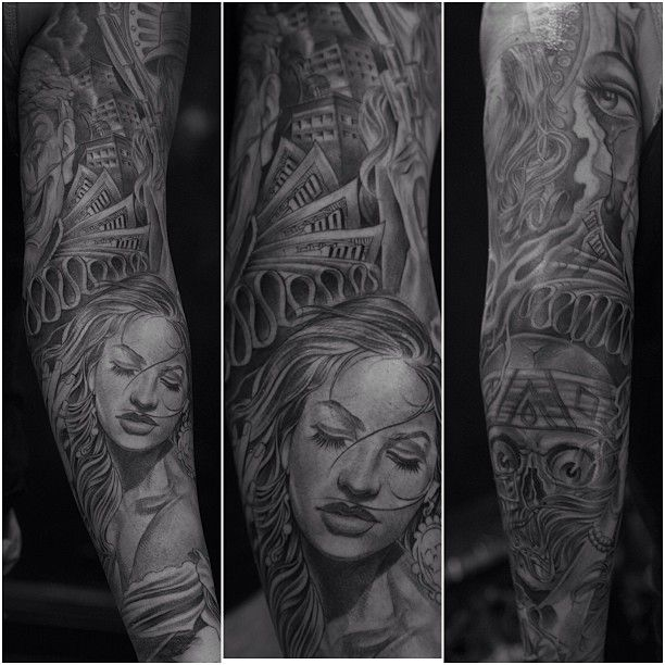 Tattoo by Jose Lopez at Lowrider Tattoo in Fountain Valley, CA