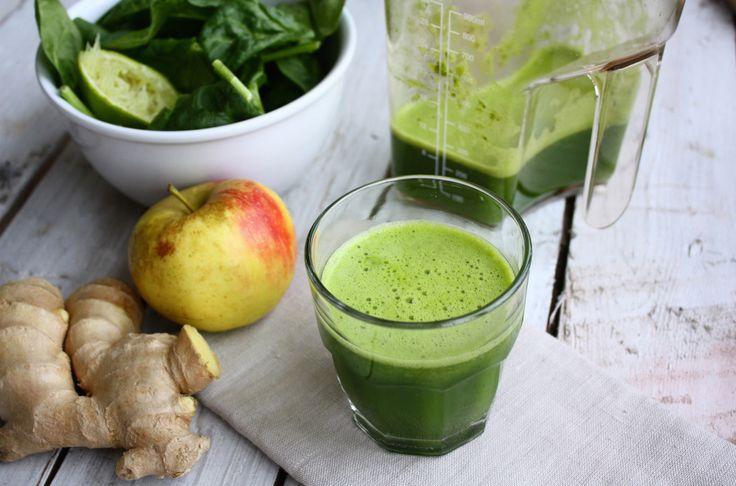 Vier de lente met dit recept voor een fris spinaziesap met appel, gember en limoen.