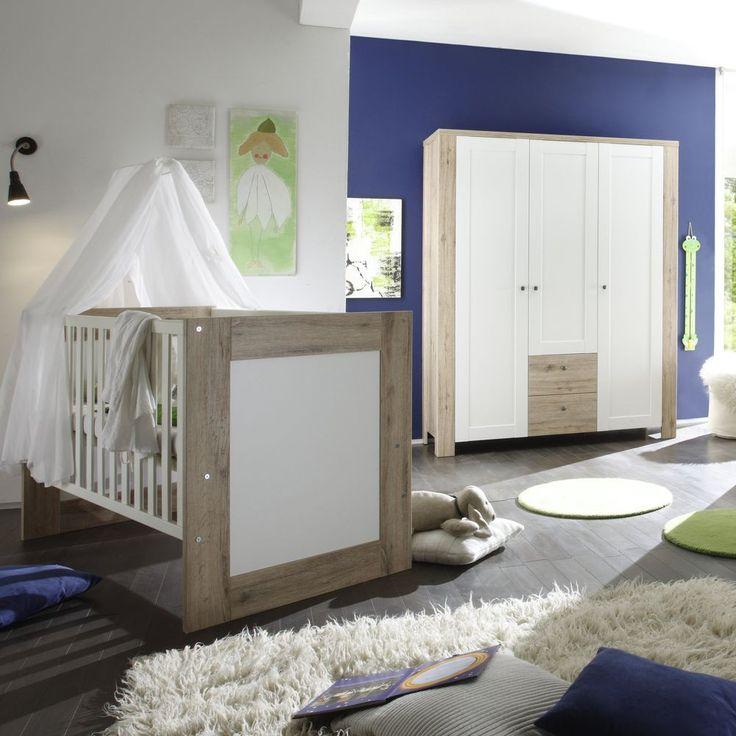 Babybett Lupo 70x140 cm Eiche Sanremo hell Weiß - Mäusbacher Möbel online günstig kaufen