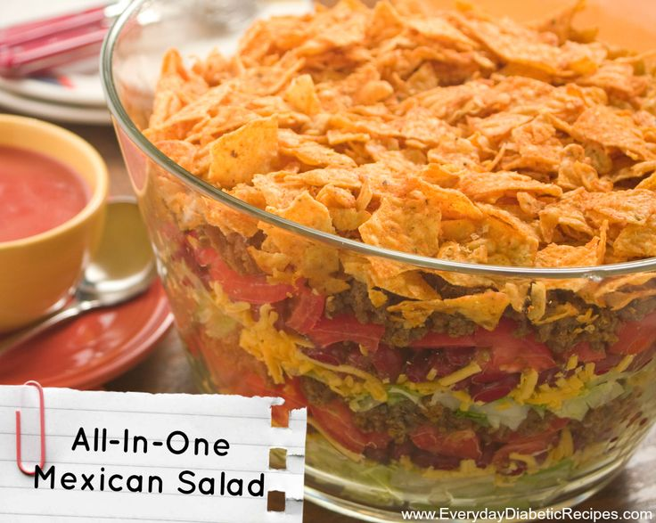 | This easy layered salad recipe has all of your favorite Tex Mex ...