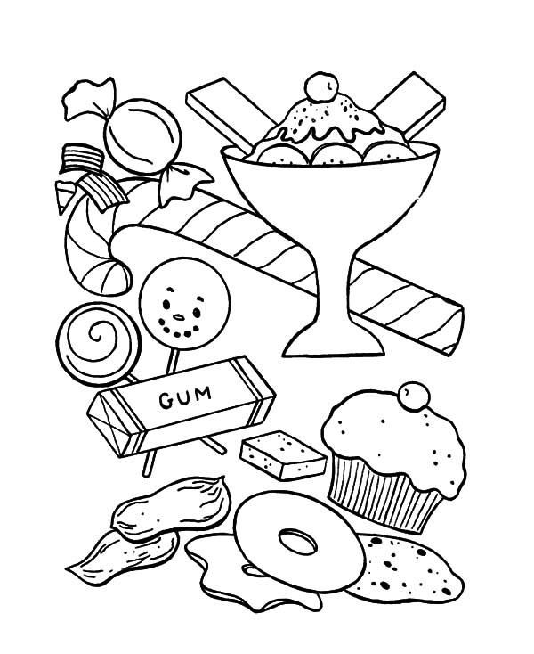 Ice Cream And Other Sweet Coloring Pages Ice Cream Coloring Pages Coloring Pages Hello Kitty Coloring