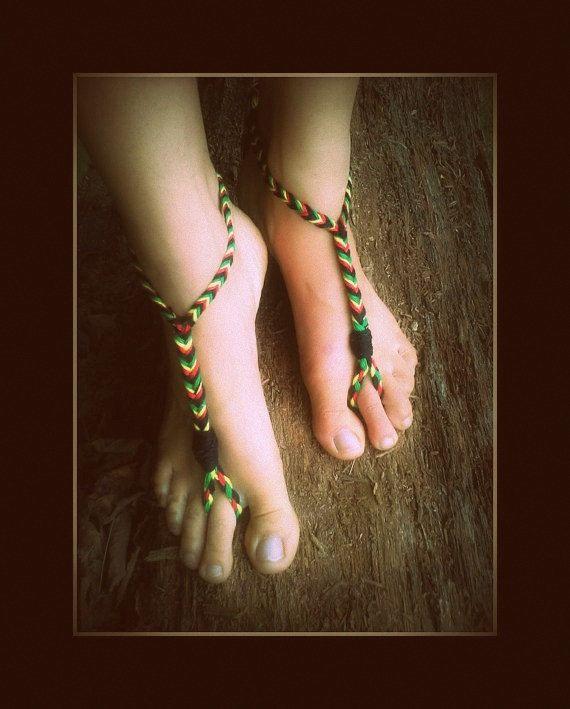 Rasta Sandals Rasta Barefoot Sandals Unisex by dieselboutique