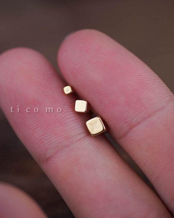 Triple-Helix-Ohrring Knorpel Ohrring 16g Knorpel von ticomo auf Etsy