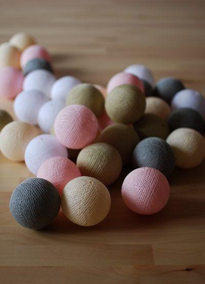 pretty pleasure.: Cotton Ball Lights by pretty pleasure. / Spring 2013