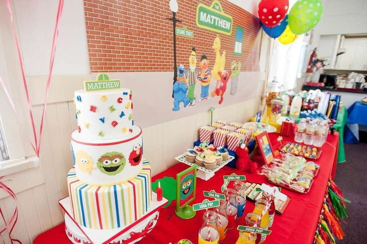 Sesame Street Birthday Party Ideas | Photo 7 of 67 | Catch My Party