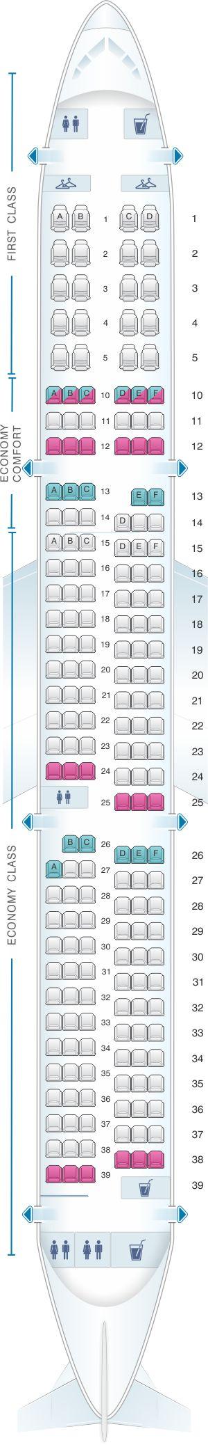 Pinterestteki Den Fazla En Iyi Airbus A Seating Chart Fikri - Us airways a321 seat map