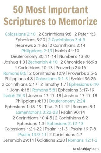 "I don't know about ""most important""...all Scripture is equally important. But a good list, nonetheless."