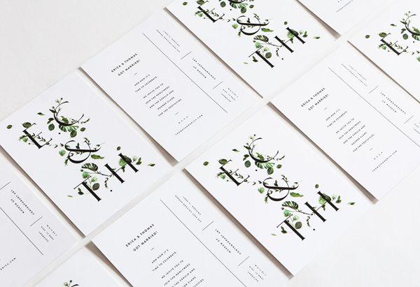 Botanical Inspired Wedding Invitations - Once Wed